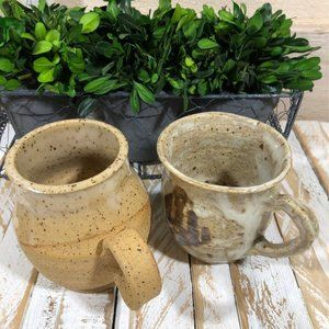Handmade Stoneware Mug Set